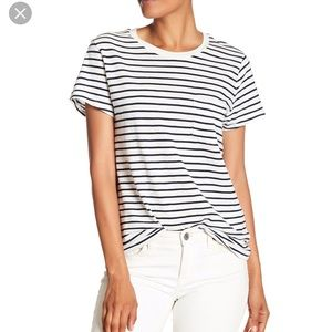 Madewell black and white striped classic tee xl